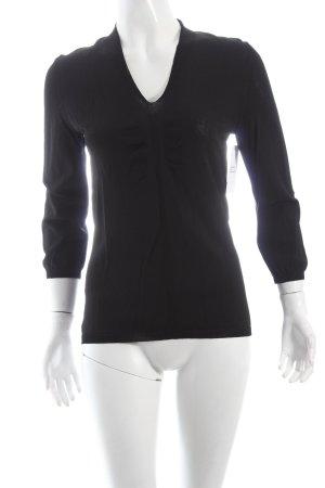 s.Oliver V-Ausschnitt-Pullover schwarz schlichter Stil