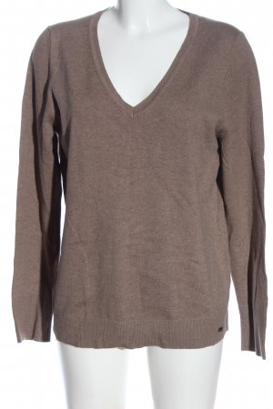 s.Oliver V-Ausschnitt-Pullover wollweiß Casual-Look