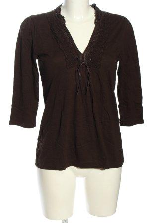 s.Oliver V-Ausschnitt-Shirt braun Casual-Look