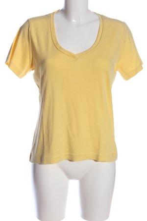 s.Oliver V-Ausschnitt-Shirt blassgelb Casual-Look
