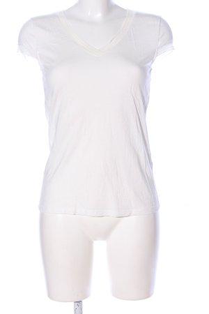 s.Oliver T-shirt col en V blanc cassé style décontracté