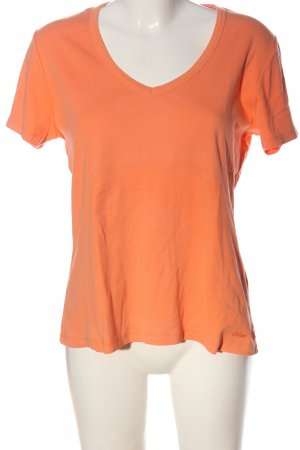 s.Oliver V-Ausschnitt-Shirt hellorange Casual-Look