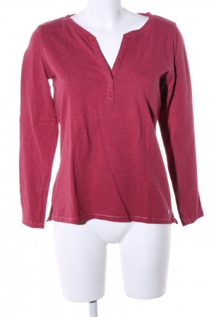s.Oliver T-shirt col en V rouge moucheté style décontracté