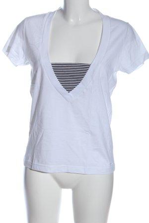 s.Oliver V-Ausschnitt-Shirt weiß Casual-Look