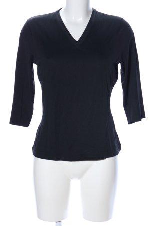 s.Oliver V-Ausschnitt-Shirt schwarz Business-Look