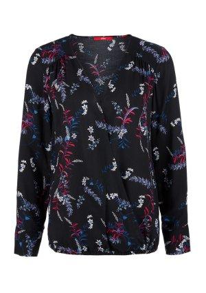 S.oliver V-Neck-Bluse mit print