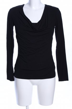 s.Oliver Cowl-Neck Shirt black casual look