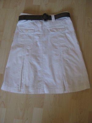 s´oliver, weißer Jeansrock, Größe 38