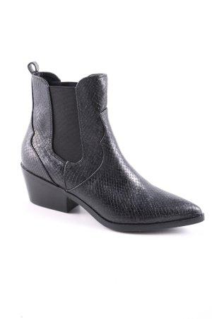 s.Oliver Boots western noir motif animal style décontracté