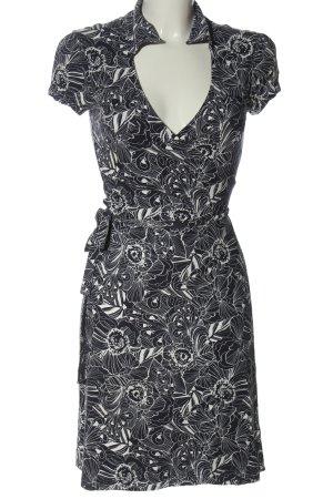 s.Oliver Kopertowa sukienka czarny-biały Na całej powierzchni W stylu casual