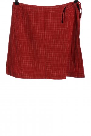 s.Oliver Wraparound Skirt red check pattern casual look