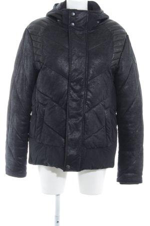 s.Oliver Kurtka zimowa czarny-ciemnoniebieski Pikowany wzór W stylu casual