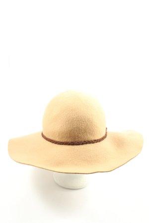 s.Oliver Woolen Hat cream-brown casual look