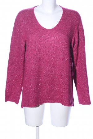 s.Oliver Wollpullover pink meliert Casual-Look