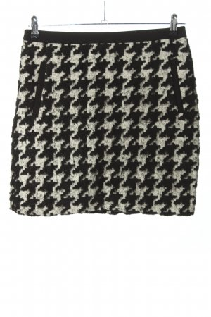 s.Oliver Wool Skirt black-white abstract pattern business style