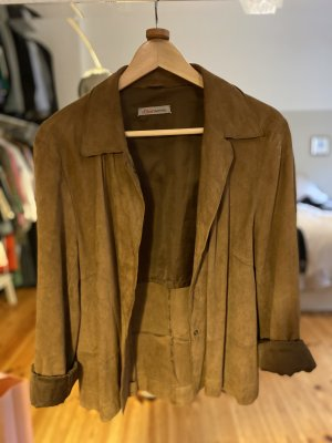 s.Oliver WOMEN Leather Blazer light brown leather
