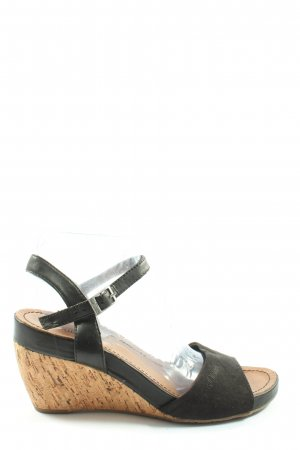 s.Oliver Wedge Sandals themed print casual look
