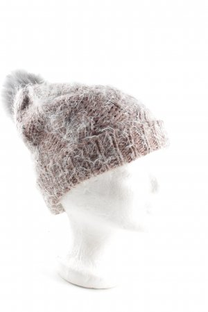 s.Oliver Pointed Hat light grey-brown flecked casual look