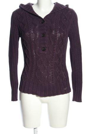 s.Oliver Warkoczowy sweter fiolet Warkoczowy wzór W stylu casual