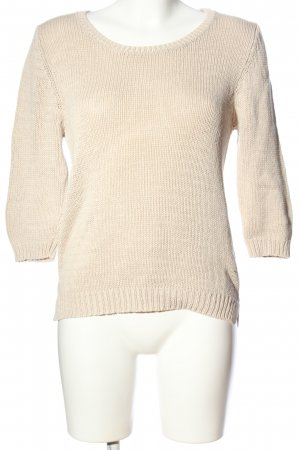 s.Oliver Cable Sweater natural white cable stitch casual look