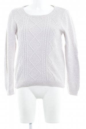 s.Oliver Zopfpullover hellbeige Casual-Look