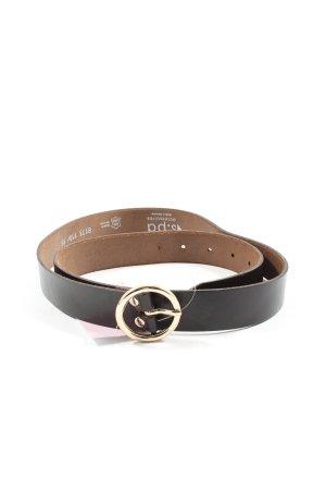 s.pa Cintura di pelle nero-oro stile professionale