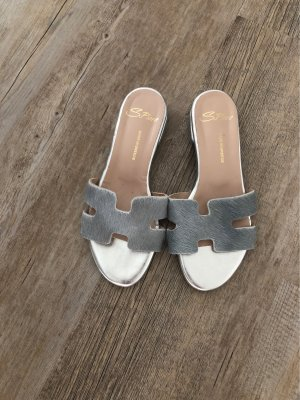 Outdoor Sandals light grey-silver-colored