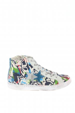 S&S High Top Sneaker abstraktes Muster Casual-Look