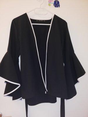 S Sakko Blazer mit Band Zara dunkelblau schwarz weiß