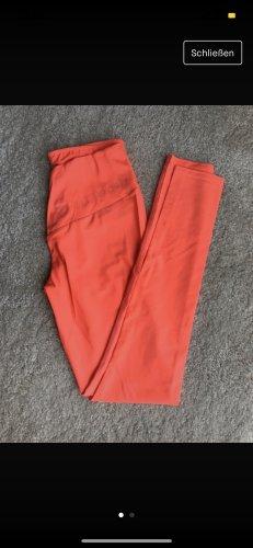 Pantalone da ginnastica rosso neon-arancio neon