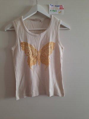 S shirt top mit Schmetterling