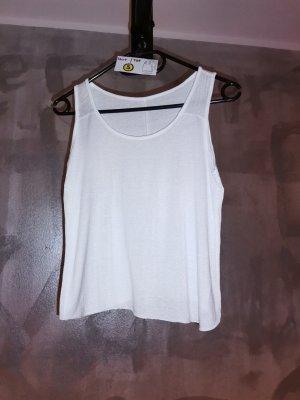 S Shirt top weiß Glitzer