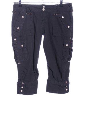 Pantalon 3/4 noir style décontracté