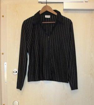 S/W gestreifte Bluse, transparent, in GR 40