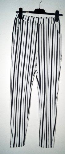 SheIn Palazzo Pants white-black polyester