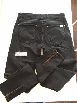 Zara Woman Pantalón de tubo negro