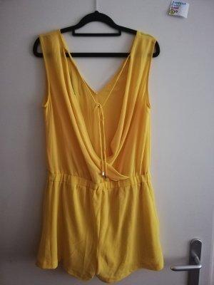 S Zara jumpsuit einteiler gelb