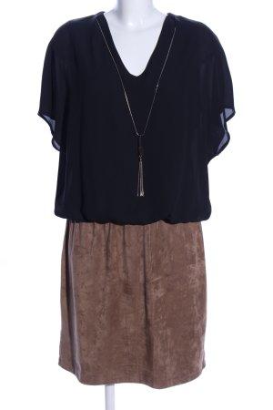 Sa.Hara Blusenkleid schwarz-braun Casual-Look