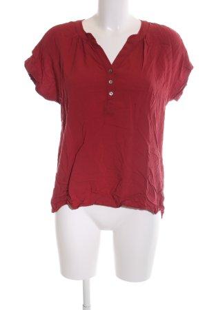 Sa.Hara Kurzarm-Bluse rot Casual-Look