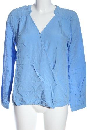 Sa.Hara Long Sleeve Blouse blue casual look