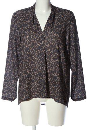 Sa.Hara Long Sleeve Blouse black-bronze-colored abstract pattern casual look