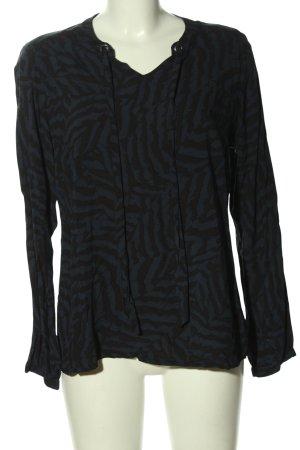 Sa.Hara Long Sleeve Blouse blue-black abstract pattern casual look