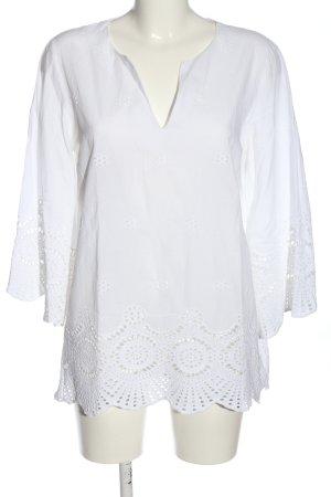 Sa.Hara Długa bluzka biały W stylu casual