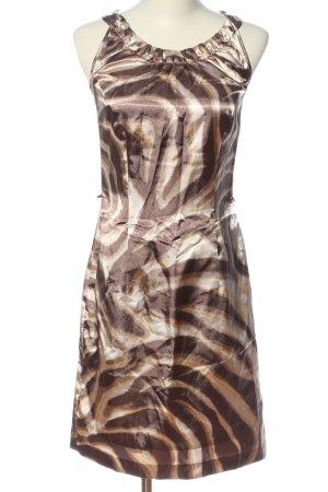 Sa.Hara Mini Dress brown-cream abstract pattern elegant