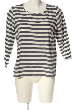 Sa.Hara Stripe Shirt natural white-blue allover print casual look