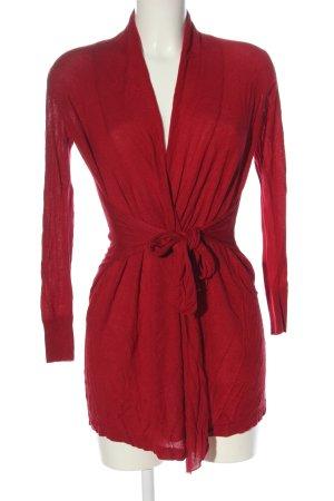 Sa.Hara Knitted Cardigan red casual look
