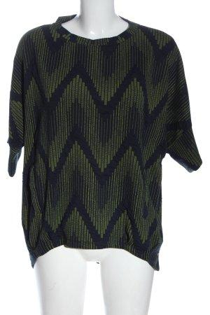 Sa.Hara T-Shirt khaki-black allover print casual look