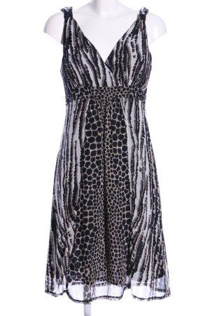 Sa.Hara Pinafore dress light grey-black allover print elegant