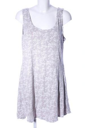 Trägerkleid hellgrau-weiß Blumenmuster Casual-Look