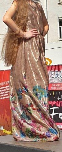 Sabina Rogala Designer Kleid Gold mit Blüten Gr.40 Neu
